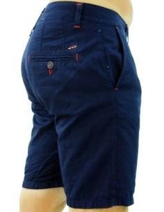 Pantalón Corto Sport de Caballero - Azul Marino Contraste