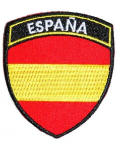 Spain's badge patch with a insciption
