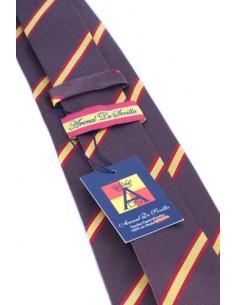 Corbata Bandera España Raya Ancha - Marrón