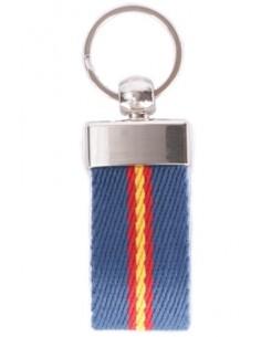 Elastic Blue Flag Keychain