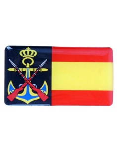 Sticker Navy and Spain Flag Relief