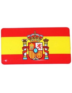 Pegatina Bandera España Actual Relieve