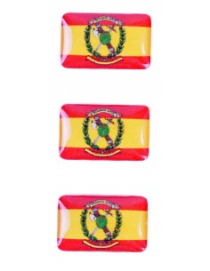 Pegatina Bandera España/Guardia Civil Mini Relieve