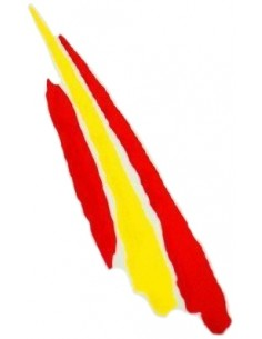 "Spanish flag ""painted"" sticker"