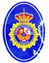 Pegatina ovalada del Cuerpo Nacional de Policia
