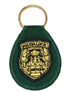 Local Police Canary Islands Embroidery Keychain