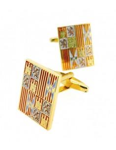 Reyes Católicos badge cufflinks