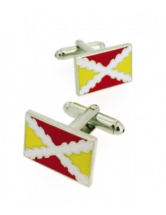 Spanish flag tercios cufflinks