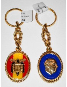 Keychain Franco and Eagle San Juan Oval