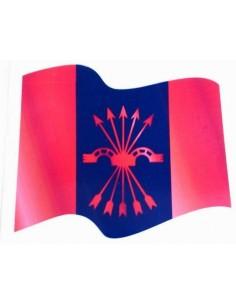 Pegatina Bandera Falange Ondeante
