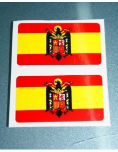 Pegatina Bandera Aguila 2 Unidades Grande