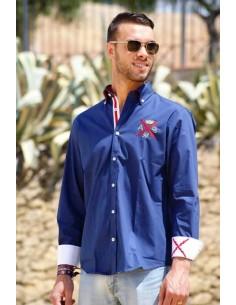 Camisa Cruz de Borgoña Imperio - Marino
