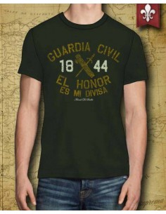 "Camiseta Guardia Civil ""Honor Es Mi Divisa"" para Él"