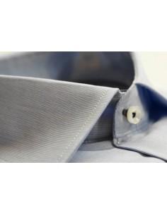 Elegante Camisa Clásica de Vestir de Caballero - Celeste