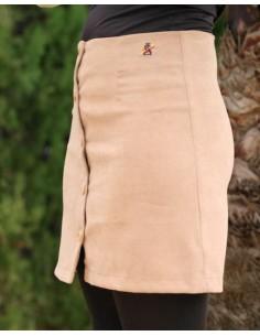 Falda de Antelina en Beige