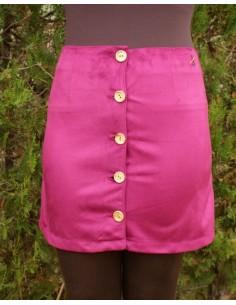 Falda de Antelina en Color Borgoña