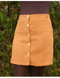 Falda de Antelina en color Castaña