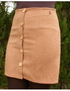 Falda de Antelina en color Camel