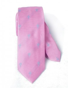 Cross of Santiago Tie - Pink