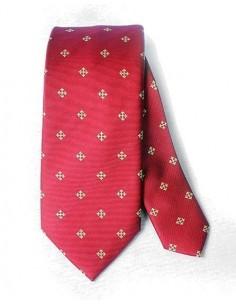 Corbata Cruz de Alcántara Roja