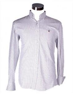Estupenda Camisa de Villela para Caballero - Blanca a Cuadros