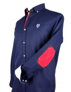 Camisa Azul Marina con Coderas en Burladero