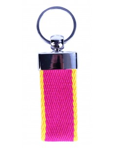 Canvas Keychain - Pink Cloak and Yellow