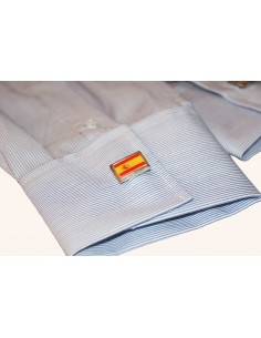 Cufflinks with the spanish flag and badge