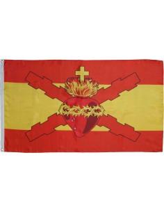 Bandera Sagrado Corazón Jesús y La Cruz de Borgoña