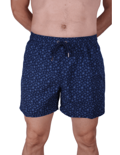 Swinsuit Navy Blue with Starfishes Baby Blue