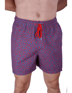 Swinsuit Sky Blue with Starfishes Red