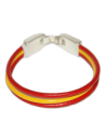 Leather Bracelet Spanish Flag Three Beads