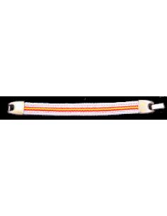 Pulsera Loneta Bandera España - Blanca