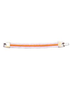 Bracelet Sailcloth Spanish Flag - White