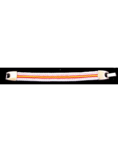 Bracelet Sailcloth Spanish Flag - White