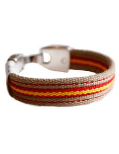 Bracelet Sailcloth Flag Spain Beige