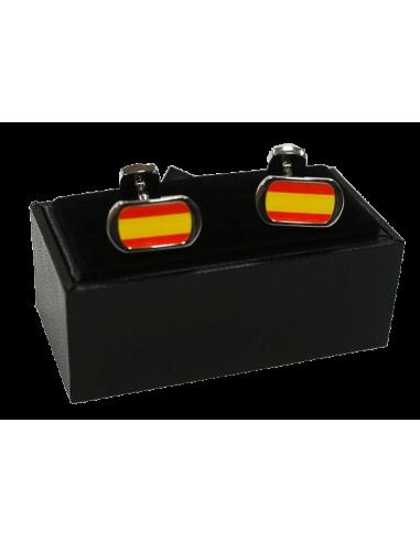 Gemelos Bandera España Ovalados