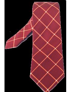 Corbata Rombos - Burdeos