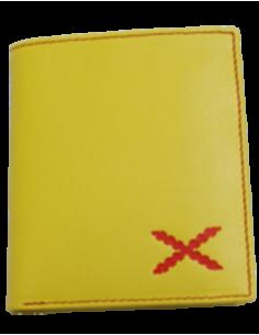 Cartera Cruz de Borgoña Alta - Amarilla