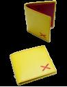 Yellow Borgoña's cross wallet- bigger cross.