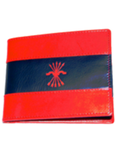 American wallet with the falange flag