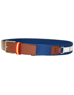 Belt with Embroidered Ribbon with Grip