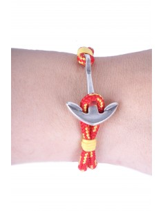Bracelet with an Anchor and the spanish flag