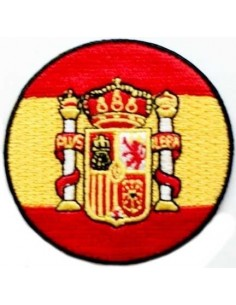 Round Spain Flag Embroidered patch
