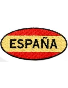 Parche Bordado Bandera España Ovalado