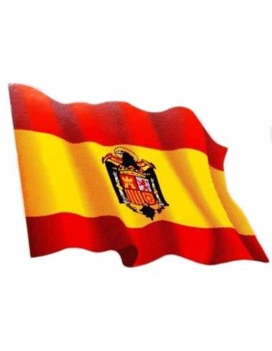 Pegatina Bandera España Aguila San Juan Ondeante
