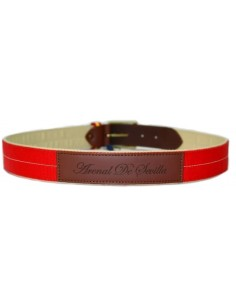 Red Belt with Spanish Flag Details