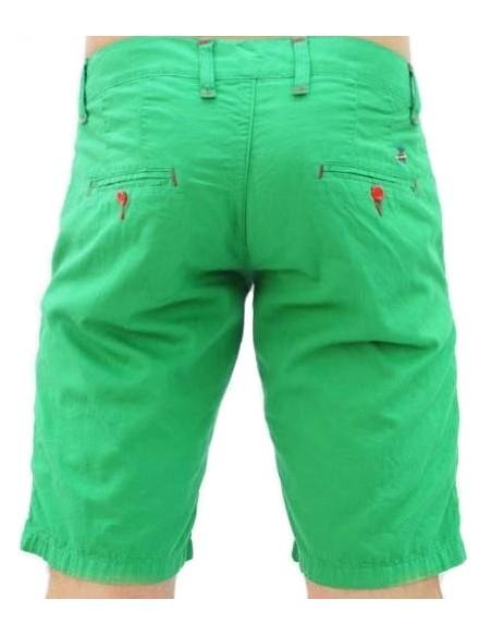 Pantalón Corto Sport de Caballero - Verde Contraste