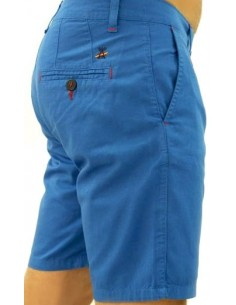 Pantalón Corto Sport de Caballero - Royal Contraste