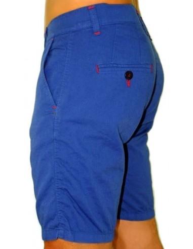 Pantalón Corto Sport de Caballero - Azul Azafata Contraste